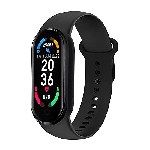 Akin Smart Orologio Fitness M6 Orologio Donna con frequenza cardiaca pressione sanguigna e monitoraggio del sonno IP67 impermeabile contapassi braccialetto sportivo Bluetooth Fitness Watch