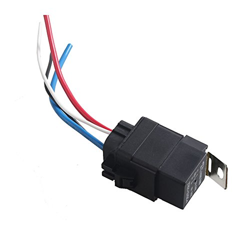 Mintice trade; 40A 12V kit voiture relais 4 broches pour la pompe à carburant imperméable prise de courant fil fer retour
