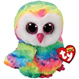 Ty Beanie Boos OWEN The Multicolor Owl Medium