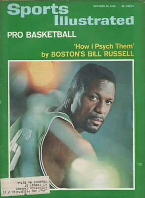 Vintage Sports Illustrated October 25, 1965 Bill Russell On Cover - NBA Magazines