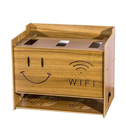 Xyanzi-Estanterias para DVDs Enchufe del Cable del Router WiFi Montaje En Pared...