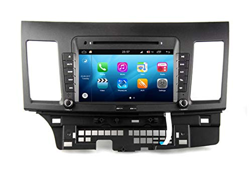 RoverOne Android System in Dash Car DVD GPS Navigation System for Mitsubishi Lancer 9 10 Galant Fortis Ispira X with Stereo Radio Bluetooth GPS USB Mirror Link Touch Screen