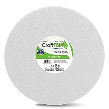 FloraCraft CraftFōM Disc 1 Inch x 16 Inch White