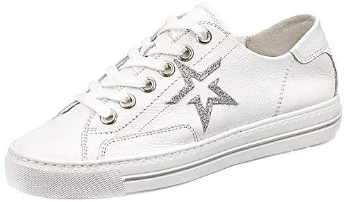 Paul Green 4810 Damen Sneakers Weiss Silb, EU 38,5