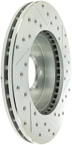 StopTech 227.40021R Select Sport Drilled and Slotted Brake Rotor; Front Right