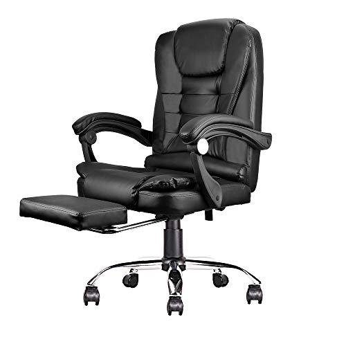 Sedia da ufficio classica regolabile sedia ergonomica girevole con piede Comfort PC Computer Laptop sedie (nero)
