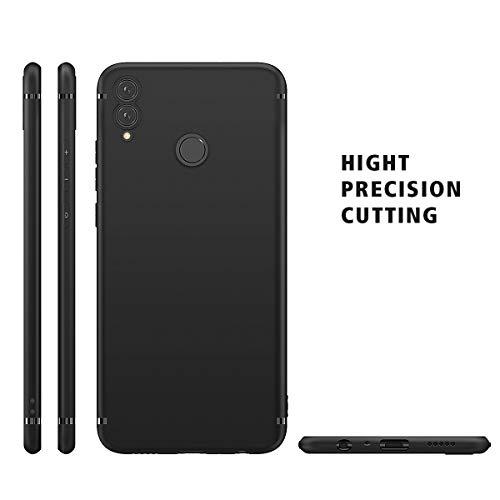 BENNALD Hülle für Honor 8X Hülle, Soft Silikon Schutzhülle Case Cover - Premium TPU Tasche Handyhülle für Huawei Honor 8X (Schwarz,Black) - 3