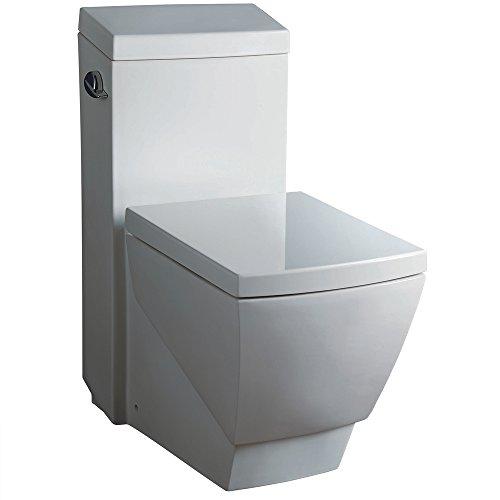 Fresca Bath FTL2336 Apus 1 Piece Square Toilet with Soft...