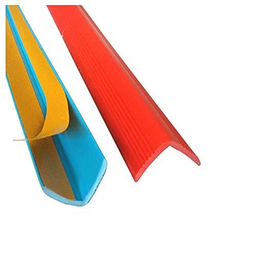 Trap Anti-slip Strips, Anti-slip Tape voor binnen en buiten, Rood, Bescherming voor oudere kinderen en huisdieren, Anti-botsing, Kan worden gebruikt op trappen/hoek