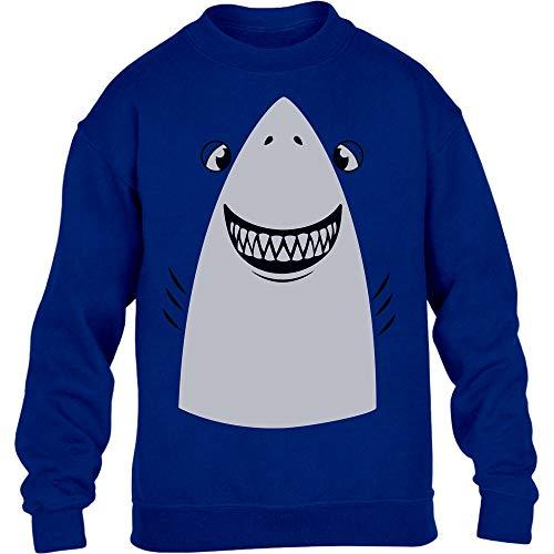 Weißer Hai Karneval, Fastnacht, Fasching Kostüm Kinder Pullover Sweatshirt 152-164 Blau