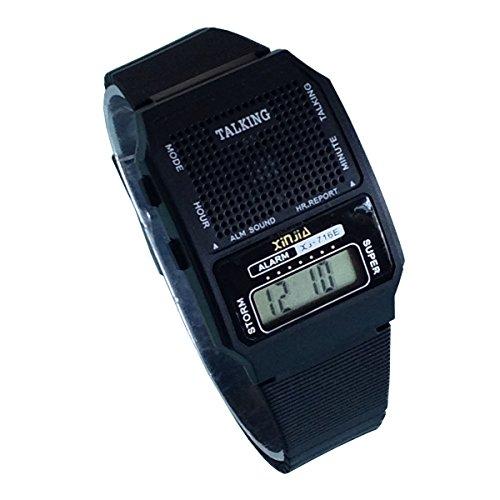 Nergo Reloj Parlante en Español para Ciegos, Niños, y Los Ancianos, Deportes Electrónicos Hablar Relojes Gatget Regalo(716-TS)