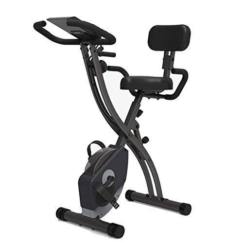 Spin Bike Crosstrainers Fitnessapparaten Folding Hometrainers Household Silent Magnetic Bedieningspedaal Hometrainers Trainingstoestellen Verstelbare Stoel (Color : Black, Size : 96 * 53 * 110cm)