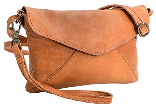 Gusti Umhängetasche Leder - Karisma Handtasche Ledertasche Vintage Braun Leder