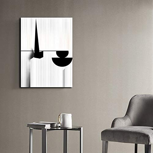 N / A Geometrische Axt Abstraktes Ölgemälde Modernes Leinwandplakat und Druckgemälde für Wohnzimmerdekoration Rahmenlos 50x75cm