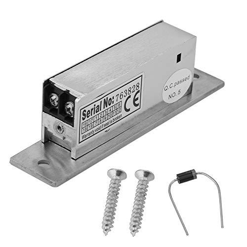 Elektromagnetische Türschlösser, 12V einstellbar schmaler Typ Türöffner, Magnet Verriegelung, Perfekt für die Sicherung von Schränken und Türen