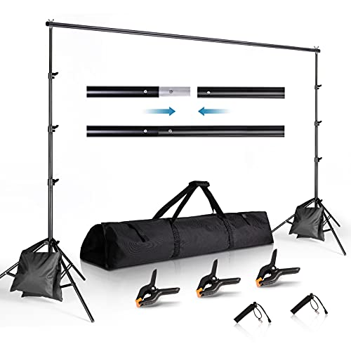 Backdrop Stand 8.5 x 10 ft, Photo Video Studio Adjustable Backdrop Stand for Parties, Wedding, Photography, Advertising Display