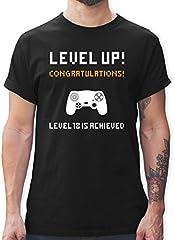 Shirtracer 18 Cumpleaños Jugador Camiseta para Hombre Cuello Redondo