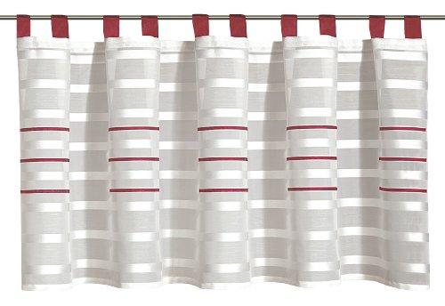 Albani Willkommen Zuhause Linea, Schlaufenpanneaux aus Scherlistore, Rot, 50 x 140 cm, 256003