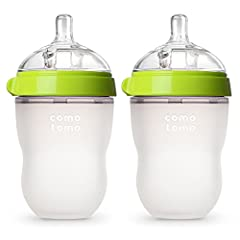Comotomo baby bottles are deisgned to most closely mimic breastfeeding to reduce bottle rejection and nipple confusion issues Ultra wide-neck design allows easy cleaning by hand without a brush. Nipple and body is made of 100% safe hygienic silicone ...
