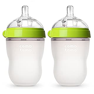 Comotomo Baby Bottle, Green, 8 Ounce (2 Count) (B009QXDE32) | Amazon price tracker / tracking, Amazon price history charts, Amazon price watches, Amazon price drop alerts