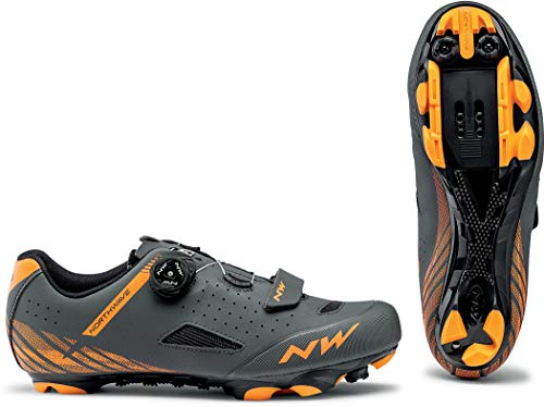 Northwave Zapatillas MTB Origin Plus Gris/Naranja - Talla: 43