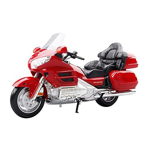 Boutique Raro Modelo De Motocicleta De Simulación De Aleación 1: 6 para Honda Gold Wing, Colección Regalos Alta Gama para Adultos, Coche Juguete