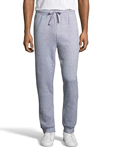 Hanes Men's Jogger Sweatpant with Pockets, Light Steel, Large