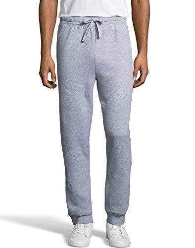 Hanes Men's Jogger Sweatpant with Pockets, Light Steel, Medium