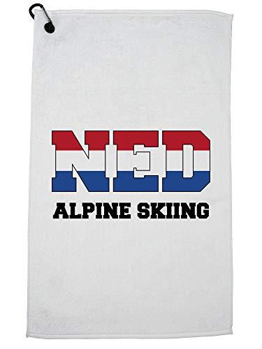 Hollywood Thread Hollandse Alpine Skiën - Winter Olympisch -NED Vlag Golf Handdoek met Karabijnhaak Clip