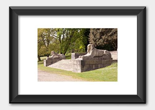 Crystal Palace Park London Poster Black Frame White 29.7x42cm (A3)