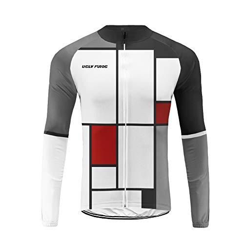 Uglyfrog Hiver Maillot de Cyclisme pour Homme Thermique Fleece Maillot de Vélo Manches Longues Tour de France