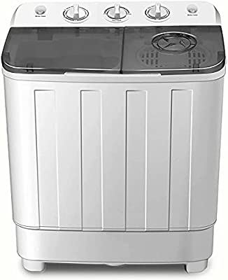 Portable Washing Machine 7.6 KG High Capacity Portable Twin Tub Washing Machine & Spin Dryer Combo Compact Washer 4.6 KG Washer 3 KG Drying For Camping Dorms Apartments College