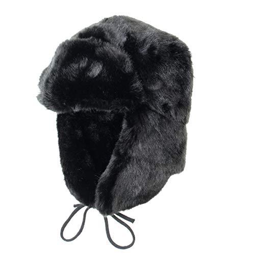 RUSSIANSTORE Cucuba/® Chapeau DE Fourrure Original Russia Ushanka DE LA Marine Militaire Trapper Bonnet ET Badge ID/ÉE Cadeaux