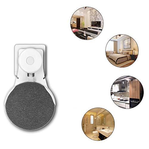 Yanhonin Socket Wall Mount Stand Hanger for Google Home Mini Voice Assistants, Solución para su Altavoz de Inicio Inteligente, Adecuado para Cocina, baño y Dormitorio (Blanco)