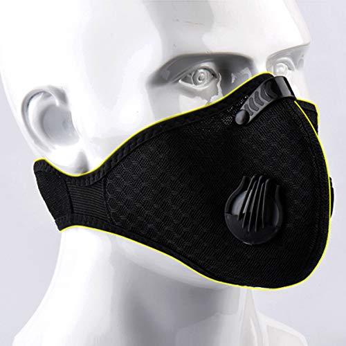 Jinxuny Stofdicht Masker Fietsen Gezichtsmasker, Anti-vervuiling Masker Geactiveerde Carbon Filtratie Uitlaat Gas Anti Pollen Allergie voor Motorfiets Mountain-Fietsen Running Fietsen