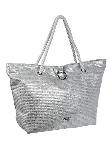 SANSIBAR-Beach-Bag L 63x23x40cm 098-Silver
