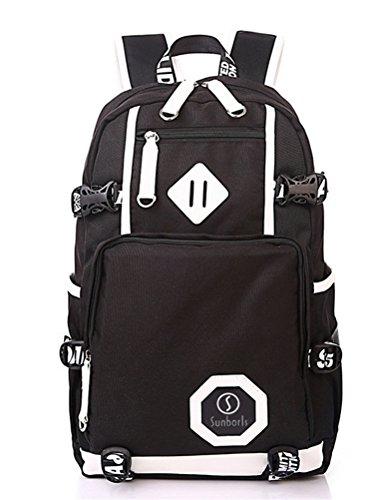 beibao shop Backpack Sacs à Dos pour Ordinateur Portable Tissu Oxford Casual Épaules Grande capacité Extérieur Voyager Multi-Fonctionnel Sac à Dos d'ordinateur, Black