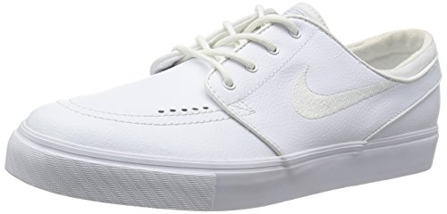 Nike Zoom Stefan Janoski L bianco / bianco / grigio lupo 14 M noi uomini