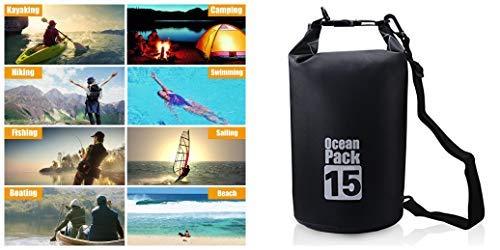15L Dry Bag 100% waterdichte rugzak Ideaal voor uw volgende avontuurlijke reis, ga kajakken/zwemmen/kanoën/raften/vissen/kamperen/snowboarden, gewoon dragen deze zak om uw spullen veilig te houden