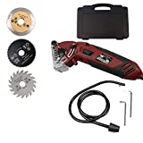 Soiiw 400W Multifunction Mini Circular Saw Machine Set with 3 Carbide Tipped Blade for Cut Drywall,Tile,Metal,PVC Plastic Pipes,Wood