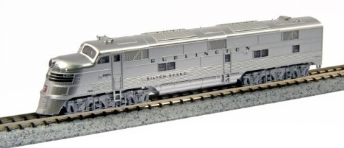 Kato USA Model Train Products EMD E5A #9910A CB and Q Silver Speed N Scale Train