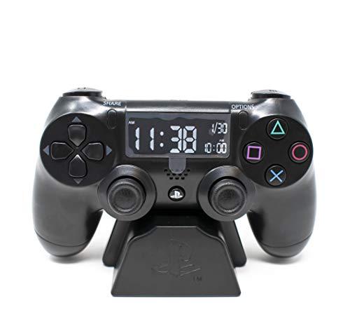 Playstation Digital Wecker LCD | PS4 Dualshock Controller Design | Verwenden Sie die Tasten, um Uhrzeit und Datum einzustellen