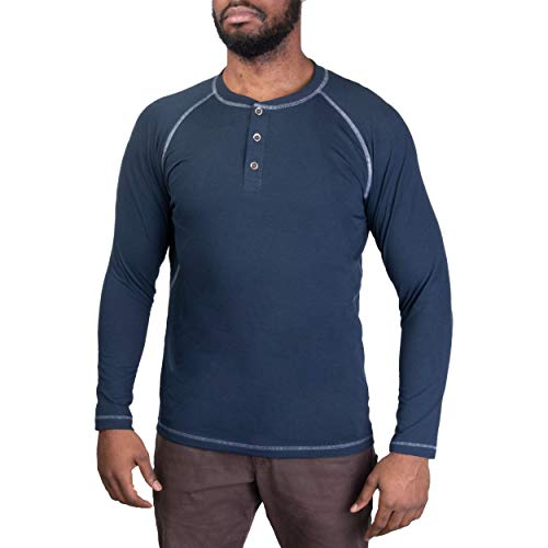 Vertx Men's Action Henley, Indigo -  VERTX Tactical Clothing and Gear, F1 VTX1465-IN-Medium
