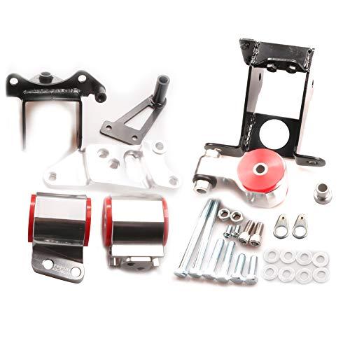 ADVANCE IGNITION Billet Aluminum Engine Motor Mount Swap Compatible with Acura Honda 06-11 Civic CSX Si K20 K24 FA FG 2006 2007 2008 2009 2010 2011