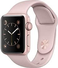 Apple Watch Series 2 Smartwatch 38mm Rose Gold Aluminum Case, Pink Sand Sport Band (Renewed)
