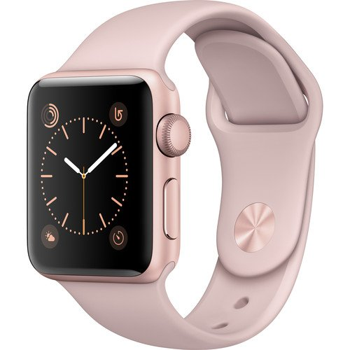 Apple Watch Series 2 Smartwatch 38mm Rose Gold Aluminum Case, Pink Sand Sport Band (
