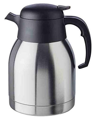 """APS Isolierkanne """"Classic"""", Kaffeekanne mit Drehverschluss, Ø 14 cm, H: 19 cm, doppelwandiger Edelstahl, für heiße und kalte Getränke, nicht spülmaschinengeeignet, 12 Tassen/1,5 Liter"""