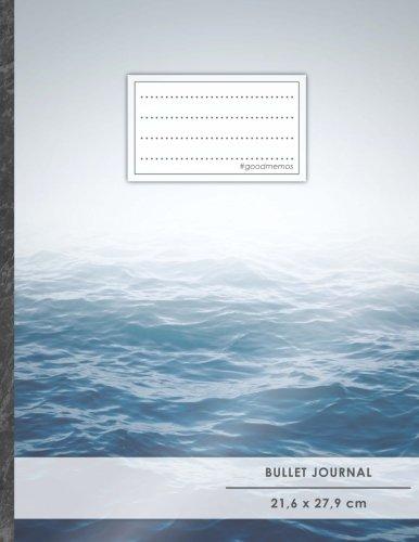 "Bullet Journal • A4-Format, 100+ Seiten, Soft Cover, Register, ""Ozean"" • Original #GoodMemos Dot Grid Notebook • Perfekt als Tagebuch, Zeichenbuch, Kalligraphie Buch"
