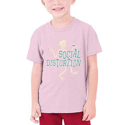 Jugend Jugen Männer Social Distortion Logo Bekleidung T-Shirt Kurzärmlig Pink L Tee T Shirt Rundhalsausschnitt Tshirt Für Teens