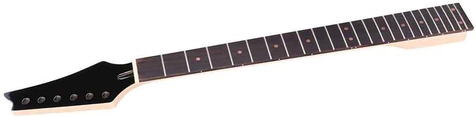 Mástil De Guitarra De Arce, Práctico Y Duradero Mástil De Guitarra Eléctrica Diapasón De Arce De 24 Trastes Para Guitarristas Para Guitarras Eléctricas De 24 Trastes(Cabeza negra)